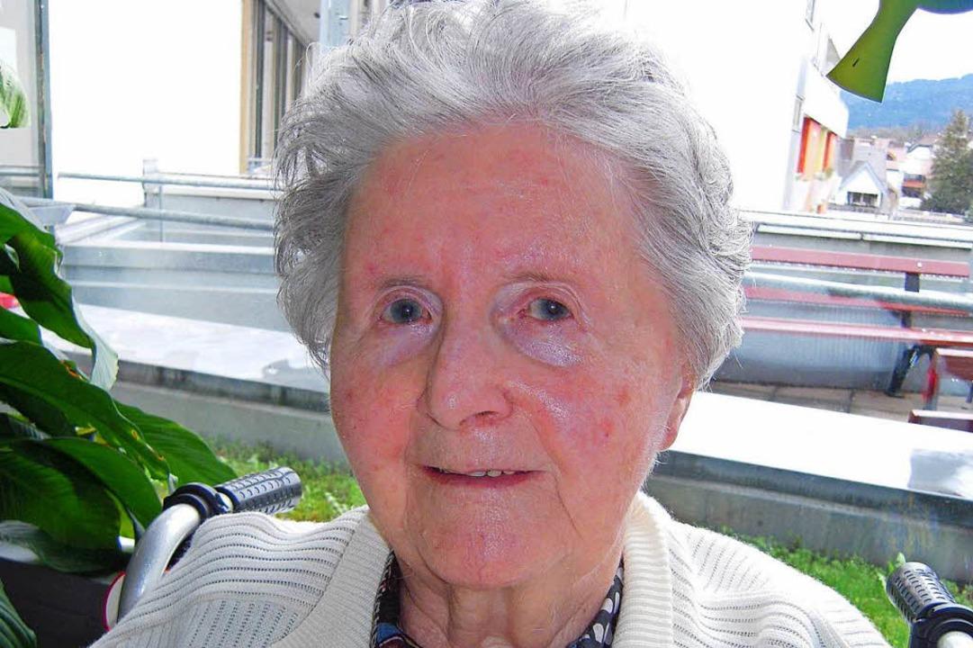Waldkirchs erste Frau, die die Ehrenbü... ist im Alter von 92 Jahren gestorben.  | Foto: Karin Heinze