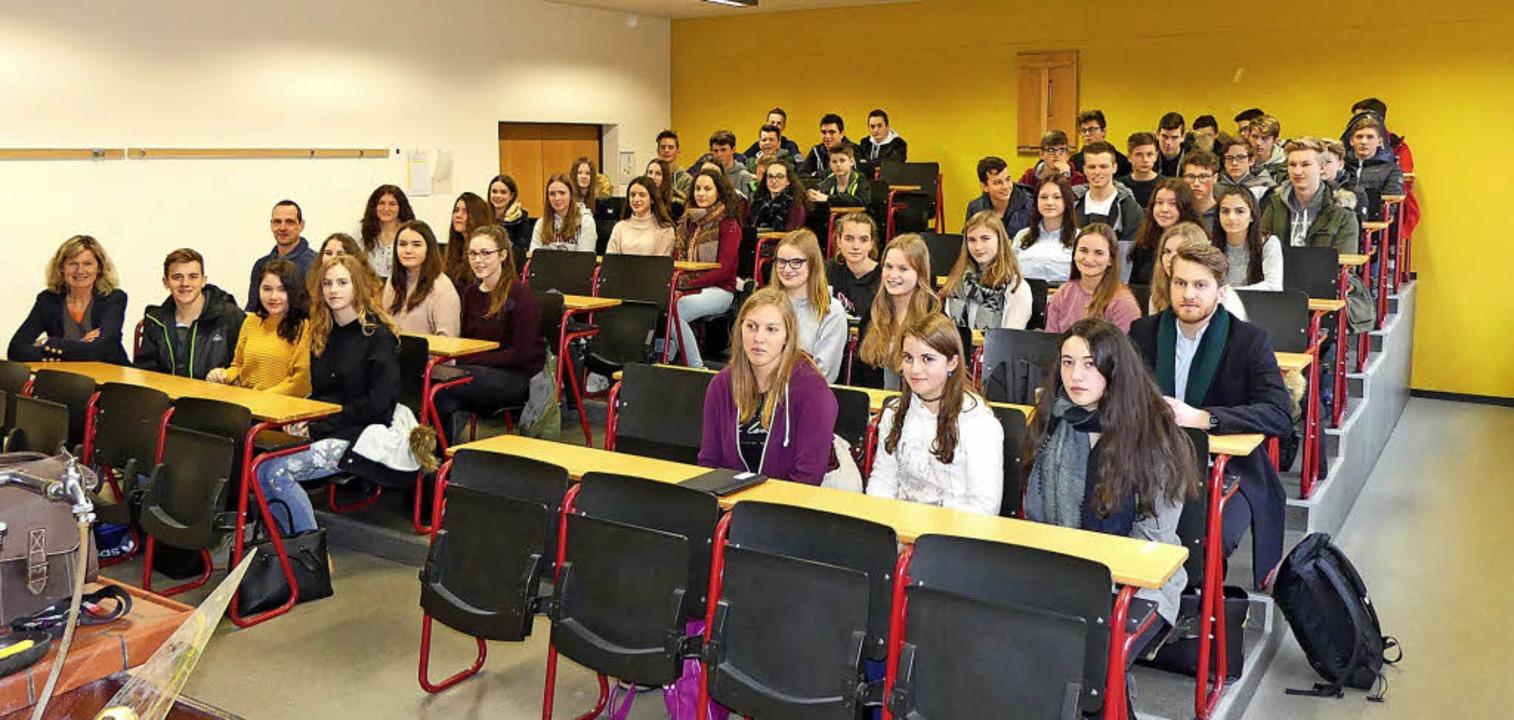 Wie jedes Jahr begrüßte BSZ-Schuleiter...ssen der Hansjakob Realschule Elzach.     Foto: BSZ