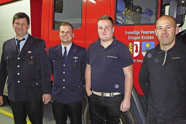 Zwei neue Feuerwehrleute
