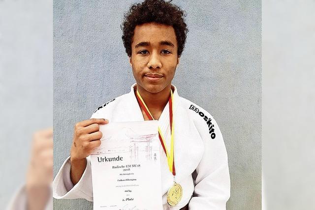 Lukas Ditengou ist badischer Meister im Judo