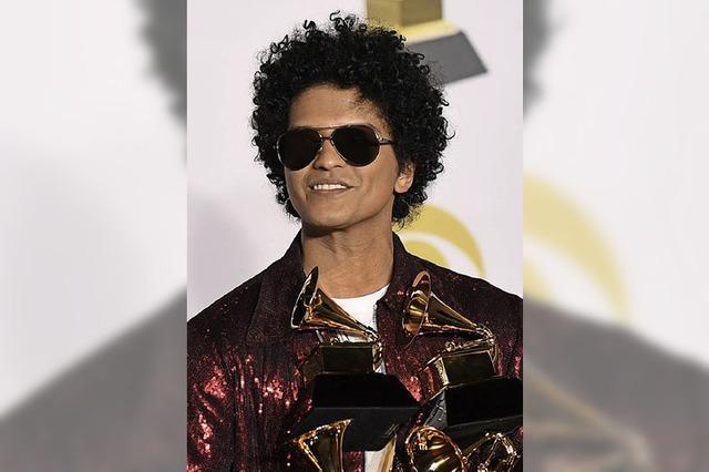 Sechs Grammys für Bruno Mars
