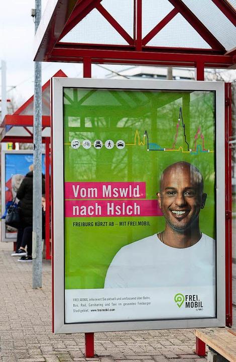 Flotte Werbung für Freimobil  | Foto: Ingo Schneider