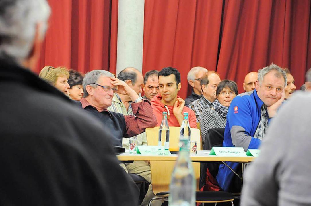 Der Zuschauerraum im Zeller Forum war mit Windkraft-Kritikern gut gefüllt.    Foto: Nicolai Kapitz