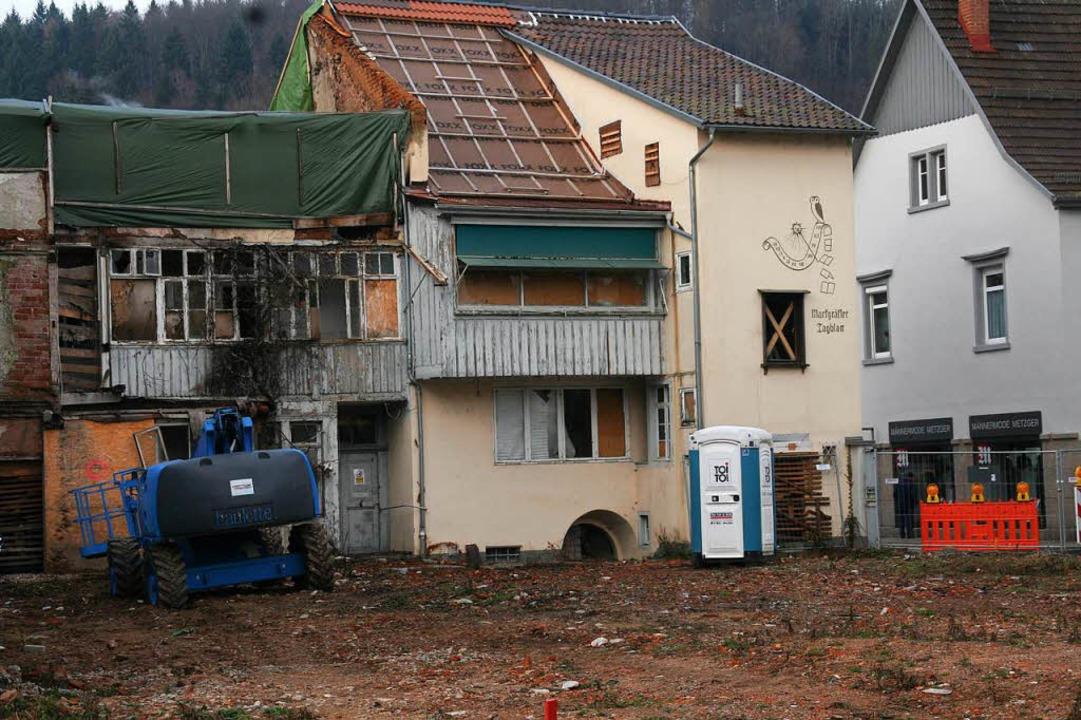 Blick aufs Eckhaus des Uehlin-Areals vom Innenhof aus.  | Foto: Marlies Jung-Knoblich