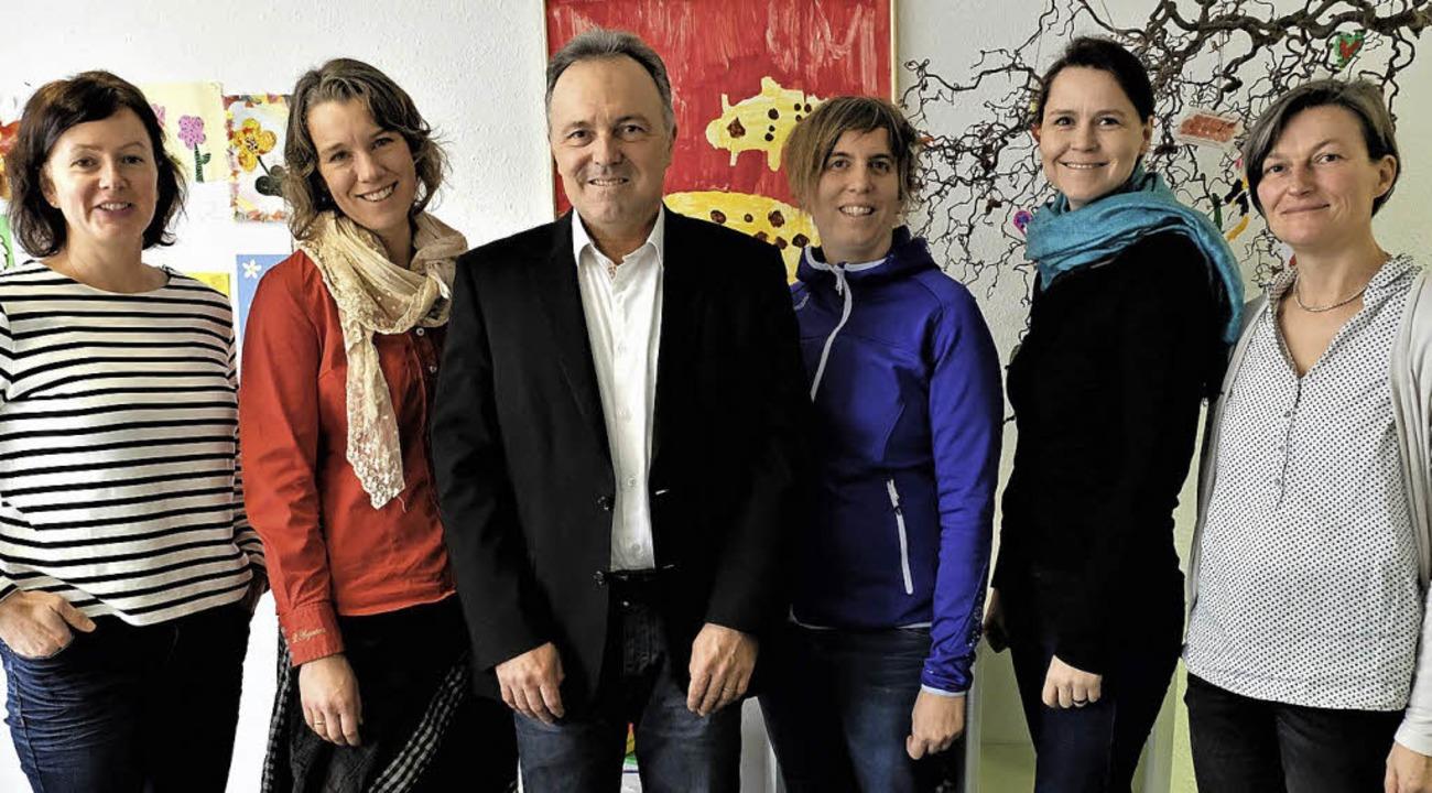Anna Homberg, Leni Schütz,  Josha Frey...ka Dupy und Mechthild Hof (von links)   | Foto: Fachdienst Kindertagespflege Weil am Rhein