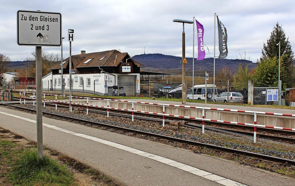 Beim Umbau des  Gottenheimer Bahnhofs ...g bis zum Fahrweg hinter den Gleisen.   | Foto: Mario Schöneberg