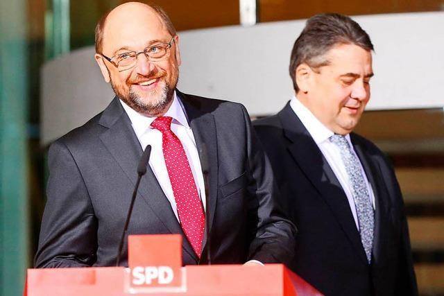 Schulz und Gabriel: Zwei Genossen wollen unverzichtbar sein