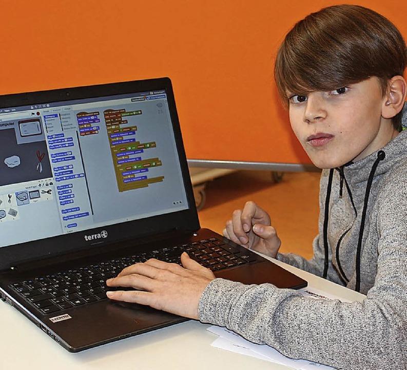 Elias Filtgen entwickelte ein Computerspiel.    Foto: Mario Schöneberg