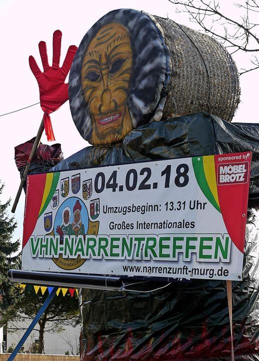 Einen Gruß entbietet der  Fährigeist d...nntag buntes Leben nach Murg bringen.   | Foto: Winfried Dietsche