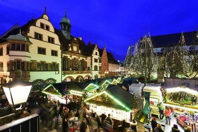 Der Freiburger Weihnachtsmarkt wird 2018 drei Tage länger dauern