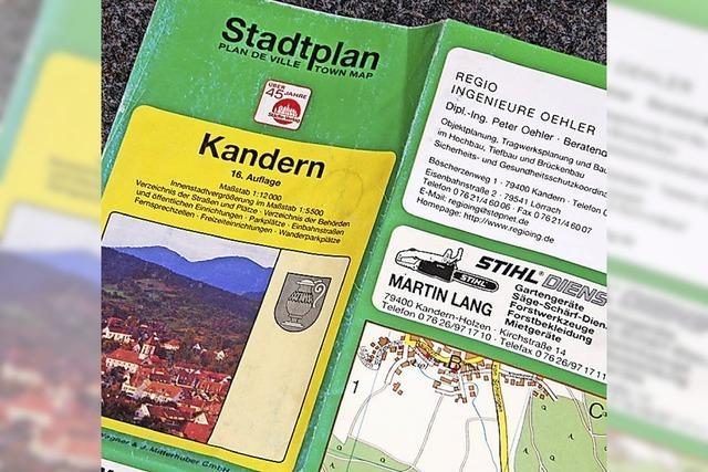 Neuauflage des Stadtplans