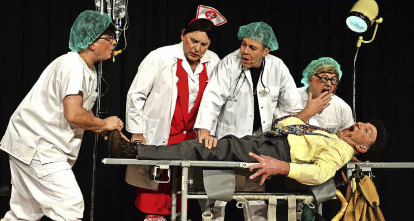 Im neuen Zentralklinikum: Thomas Wagne..., Andreas Kuck und Patient Hansi Gempp  | Foto: Barbara Ruda