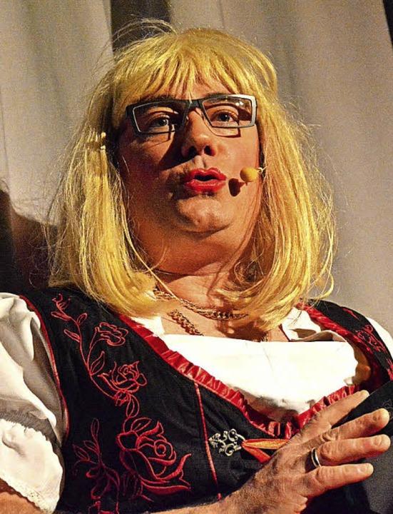 Ein echter Gewinn: Thomas Wagner, hier als Serviermaidli  | Foto: Barbara Ruda