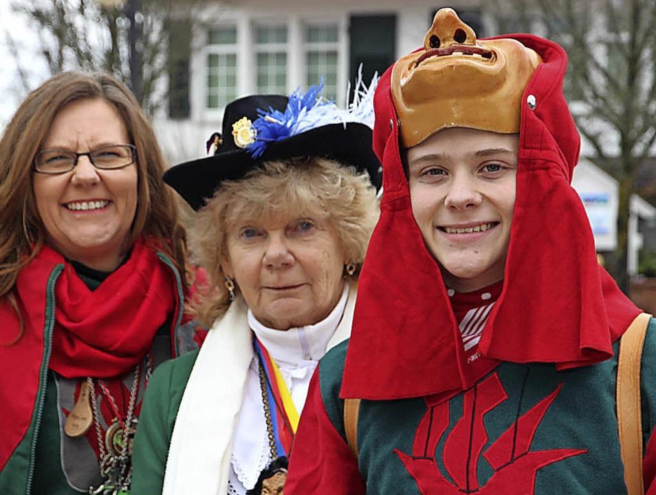 Seenixe Marika Reith (links), Seemer W...tionen mit Fasnachtsblut in den Adern.  | Foto: Eva Korinth