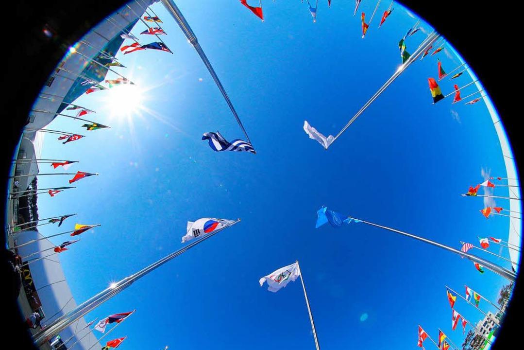 Das olympische Dorf in der Küstenstadt...ung ist am Donnerstag eröffnet worden.  | Foto: dpa