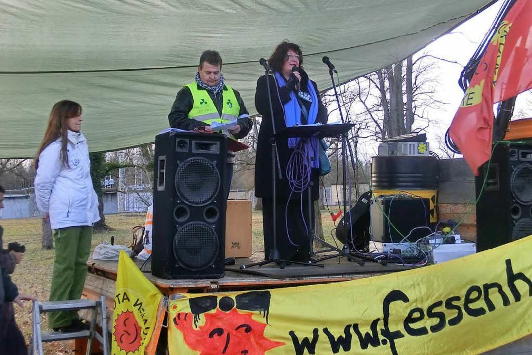 Musik gegen den Weiterbetrieb des Atomkraftwerks in Fessenheim    Foto: Veranstalter