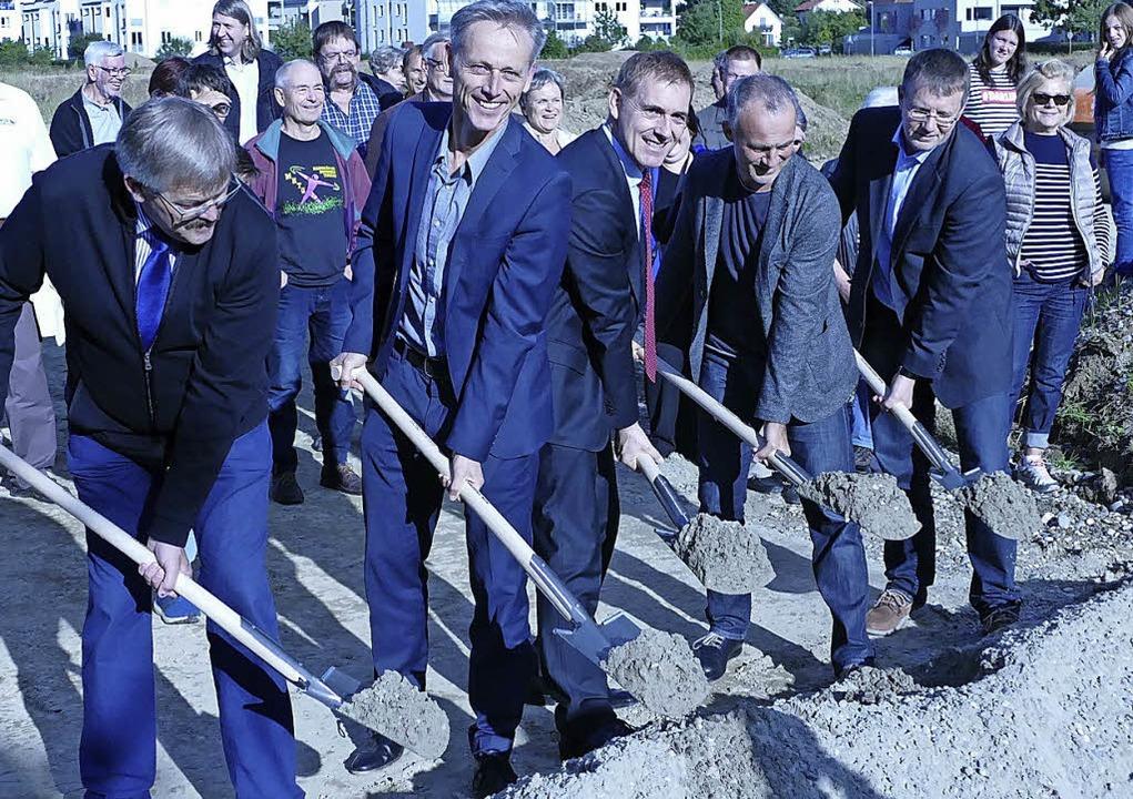 Aufbruchstimmung in Haagen mit Politpr...nz: Das Projekt wird nun privatisiert.    Foto:  ehrentreich