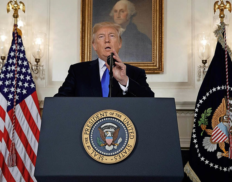 "US-Präsident Donald Trump will die Ent...o genannter ""Mini-Nukes"".     Foto:  DPA/Evan Vucci"