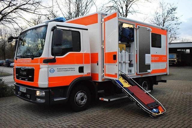 Schwerlast-Fahrzeug des DRK kann Patienten bis 700 Kilogramm transportieren