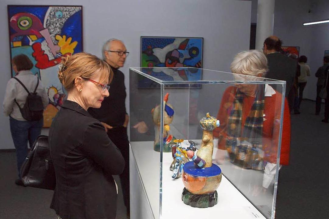 Glasfiguren als Beispiel für Otmar Alts Vielseitigkeit  | Foto: Michael Haberer