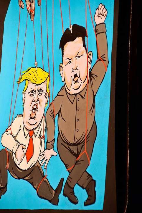Beliebtes Thema: Donald Trump und Kim Jong Un  | Foto: Heidemarie Wussler
