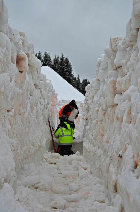 Das Schneelabyrinth in Bernau  | Foto: Sarah Trinler