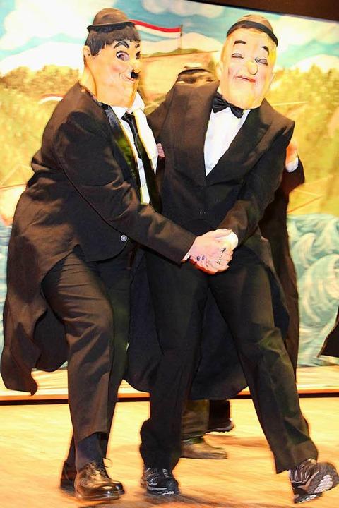 Oliver Hardy und Stan Laurel ließen die Seemer Wiiber aufleben.  | Foto: Eva Korinth