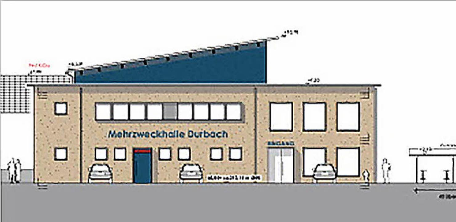 Soll 2020 fertig sein: die neue Mehrzweckhalle     Foto: Gemeinde