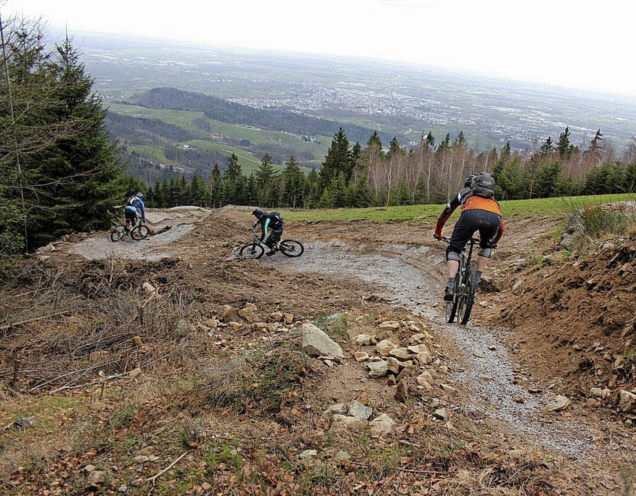 Experten für Mountainbike-Tourismus un...er Schwarzwaldtrail in Sasbachwalden.   | Foto: dgv/mga