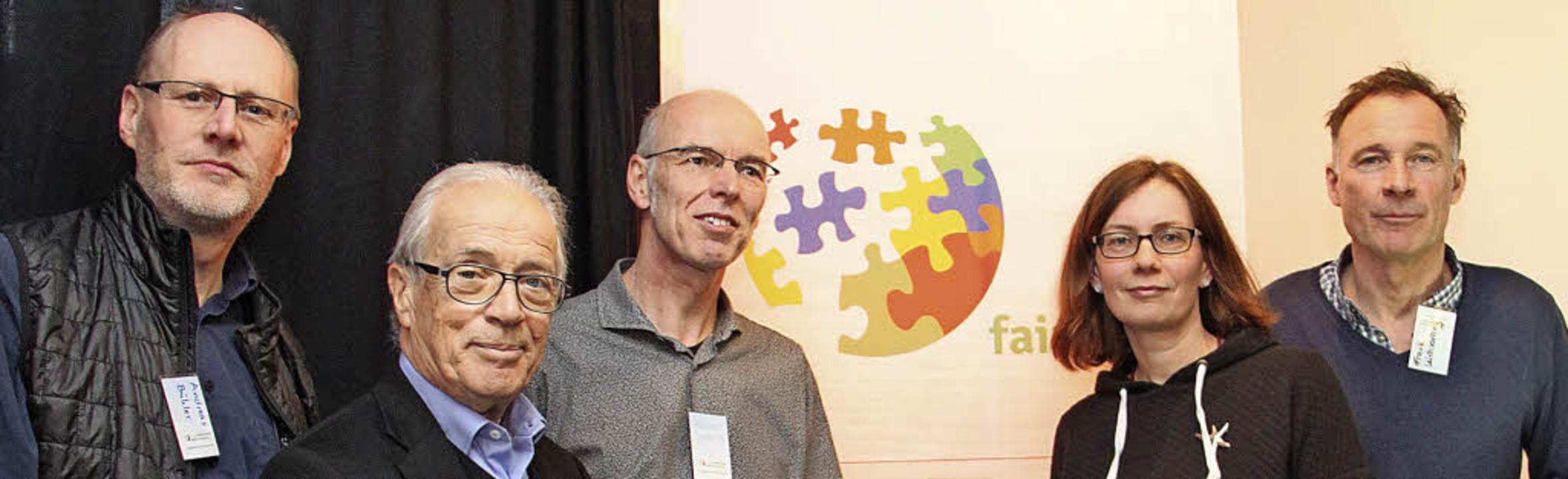 Zum Kernteam des Netzwerks Fairnetzt g...häfer-Neudeck und Frank Leichsenring.   | Foto: Aaron Hohenfeld