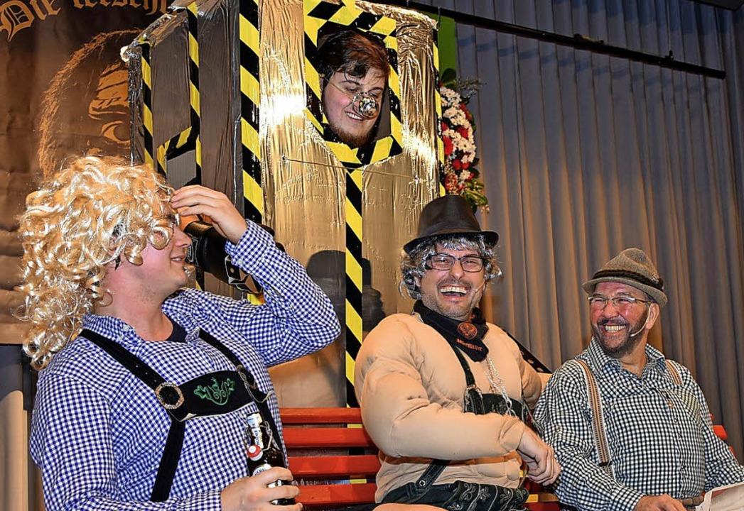 Die Vier vom Gesangverein präsentierten Bänkle Songs.   | Foto: H.  Vollmar