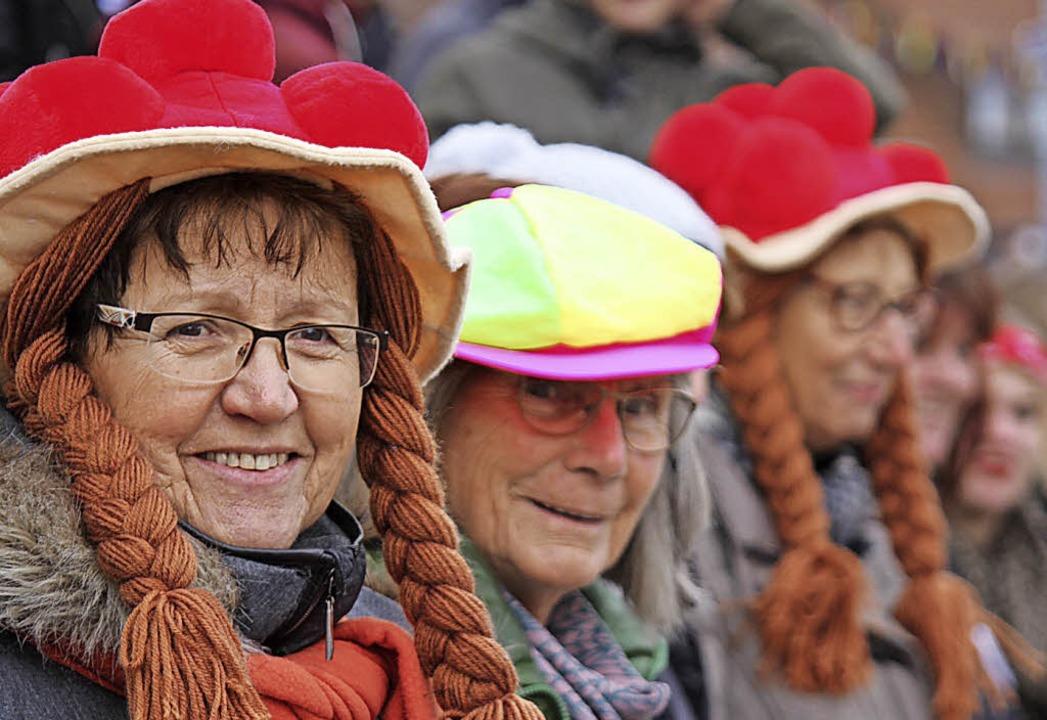 Gutgelaunte Schwarzwälderinnen säumten den Umzug des Fuhrmannstags.    Foto: Gert Brichta