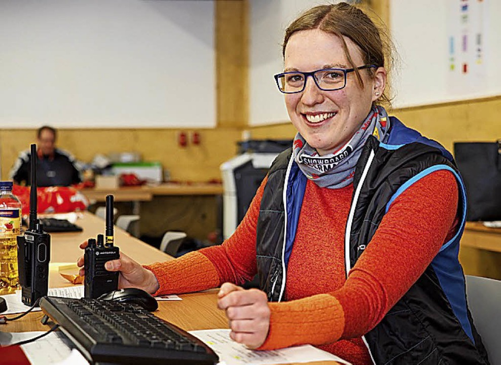 Im Rennbüro: Carolin Kunzmann  | Foto: Susanne Gilg