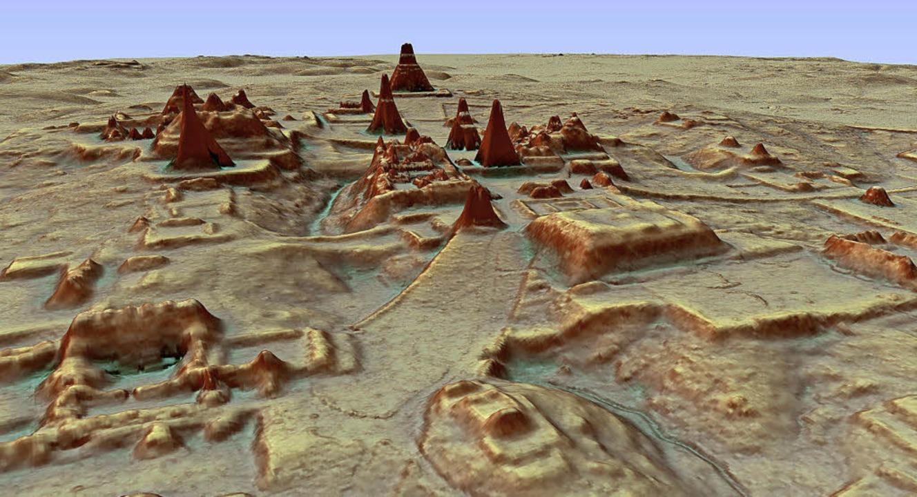 Mit Hilfe von High-Tech-Lasern haben W...nd dort  Städte und Bauten gefunden.    | Foto: dpa