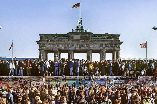 So lange wie sie da war, ist die Berliner Mauer nun weg