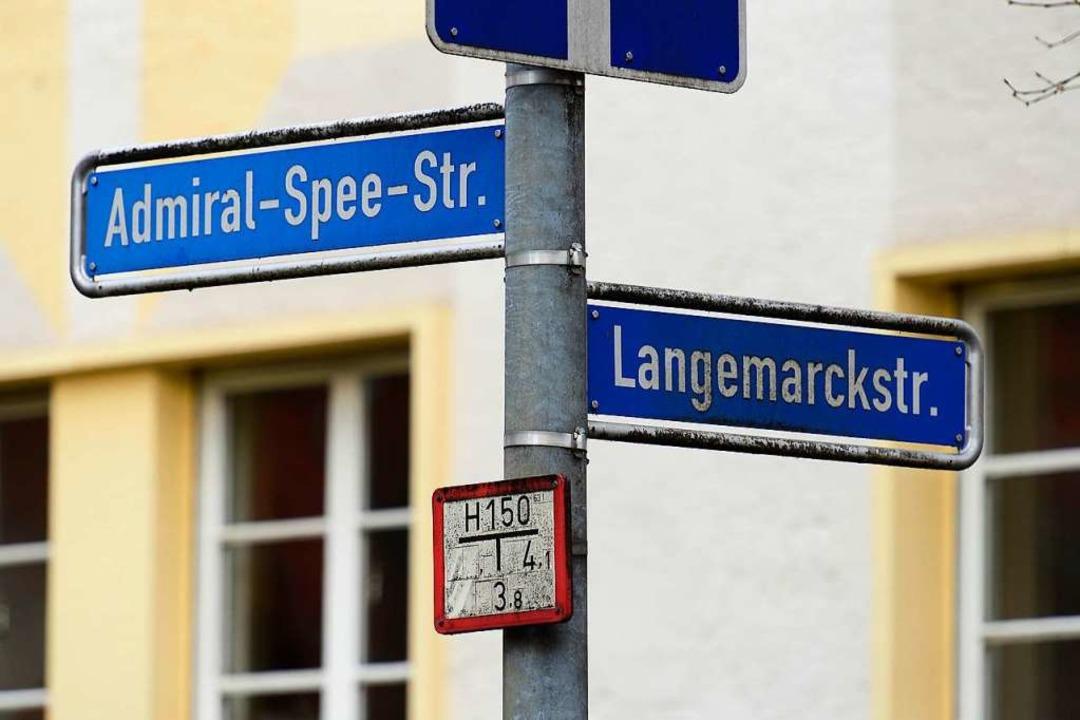Die Admiral-Spee-Straße in der Unterwiehre.  | Foto: Ingo Schneider