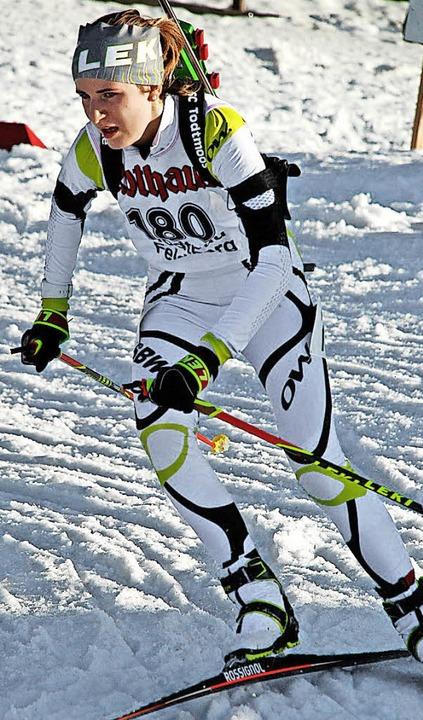 Biathletin Emilie Behringer feierte in...im Deutschlandpokal ihre ersten Siege.    Foto: J. Ruoff
