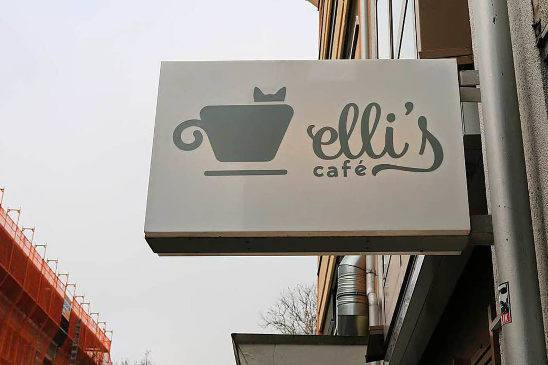 Logo mit Katze: Elli's Café.  | Foto: Gina Kutkat