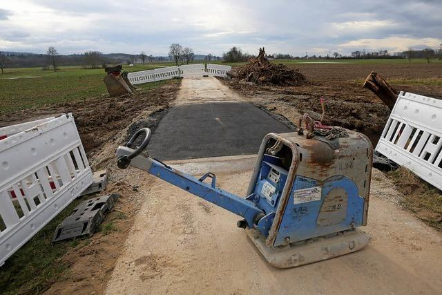 Bauarbeiten bei Niederschopfheim