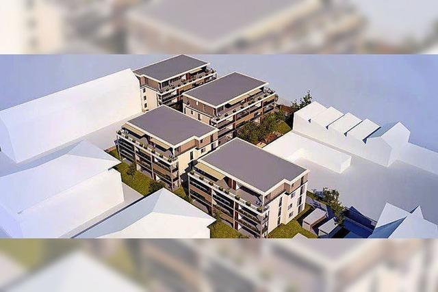 44 Wohnungen in vier Häusern