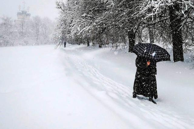 Chaotische Wetterverhältnisse in der russischen Hauptstadt