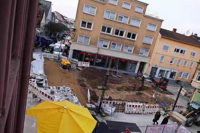Stadt unterstützt inhabergeführte Geschäfte finanziell während der Bauarbeiten vor der Haustür