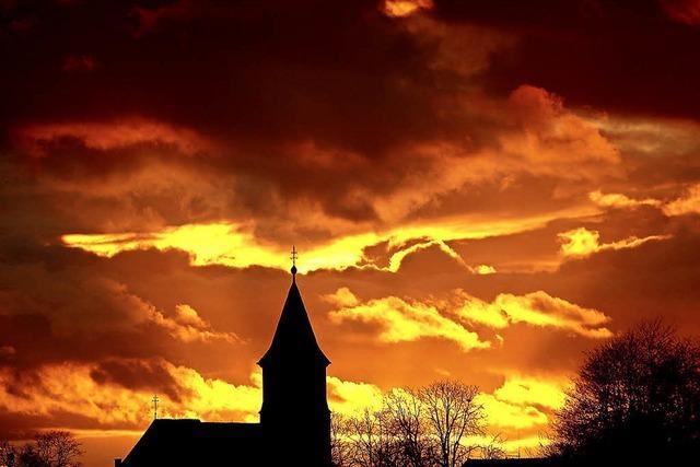 Als stünde der Himmel in Flammen