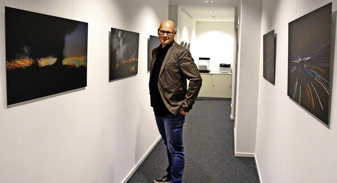 Christoph Geisel stellt in der Galerie in der Sonne  aus.   | Foto: Barbara Ruda