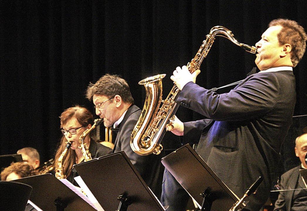 Volles Rohr: Das Saxophonensemble des ...ters Baden-Württemberg bei der Arbeit.    Foto: Hans Jürgen Kugler
