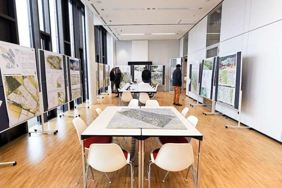 Die Räumlichkeiten für bürgerschaftlic...lungsraum für die Dietenbach-Entwürfe.  | Foto: Thomas Kunz