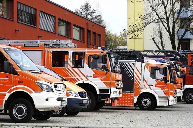 Die Freiburger Feuerwehr rettete 2017 fast 400 Menschen