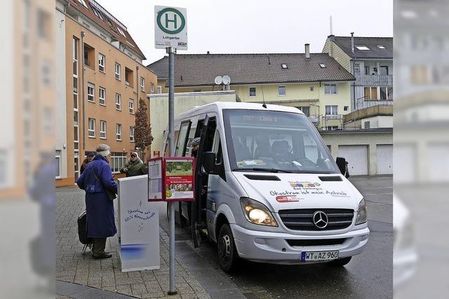 Ein Bus auf Abruf zwischen Lohgerbe und Kurgebiet