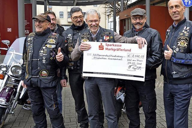 Harley-Fahrer unterstützen Klinikclowns