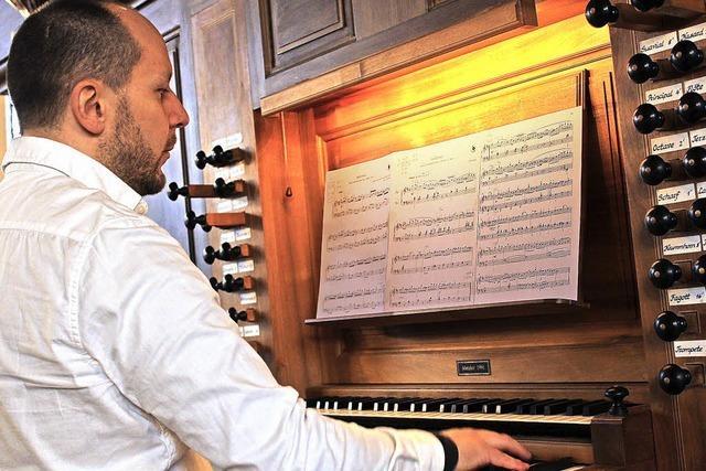 Überraschungsgast an der Orgel